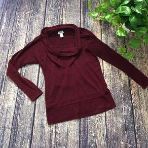 🌀Motherhood Maternity | Red Relaxed Cowlneck